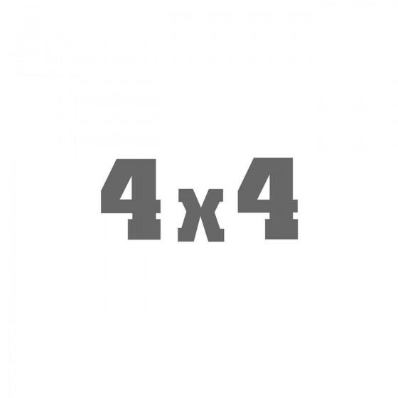 4x4 Dangel Vinyl Decal Sticker