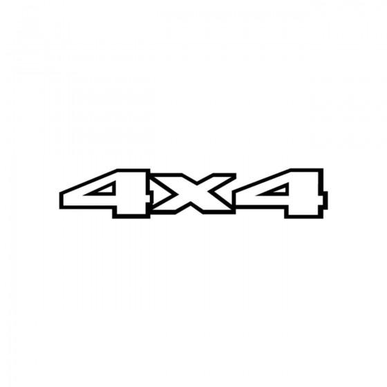 4x4 Logo Set 1 Vinyl Decal...