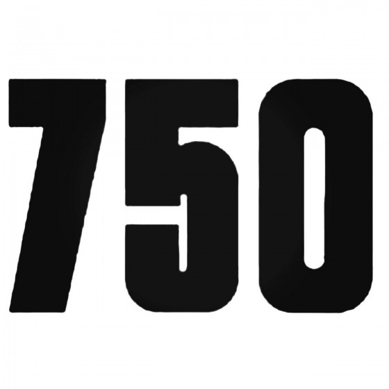 750 Style 4 Decal Sticker