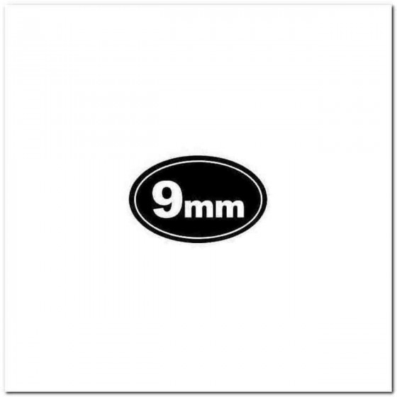 9mm Euro Style Decal Sticker