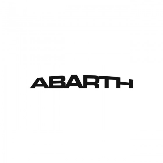 Abarth Ecriture Vinyl Decal...