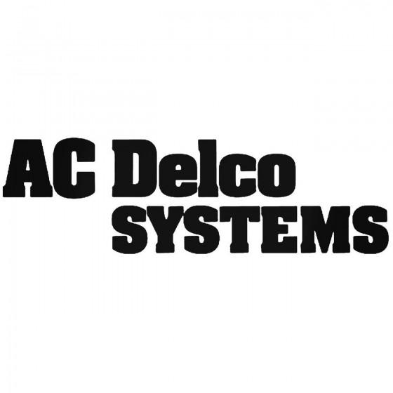 Ac Delco Systems Sticker