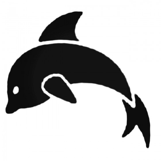 Adorable Dolphin Decal Sticker
