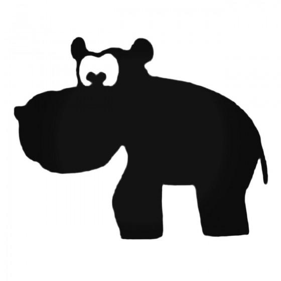 Adorable Hippopotamus Decal...