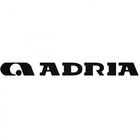 Adria Caravan Decal Sticker