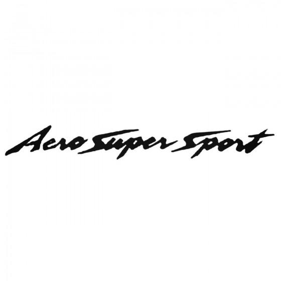 Aero Super Sport Decal Sticker