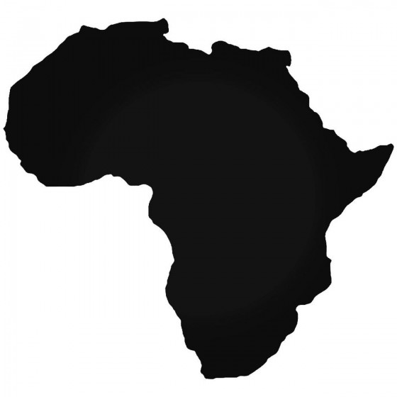 Africa Continent Map Sticker