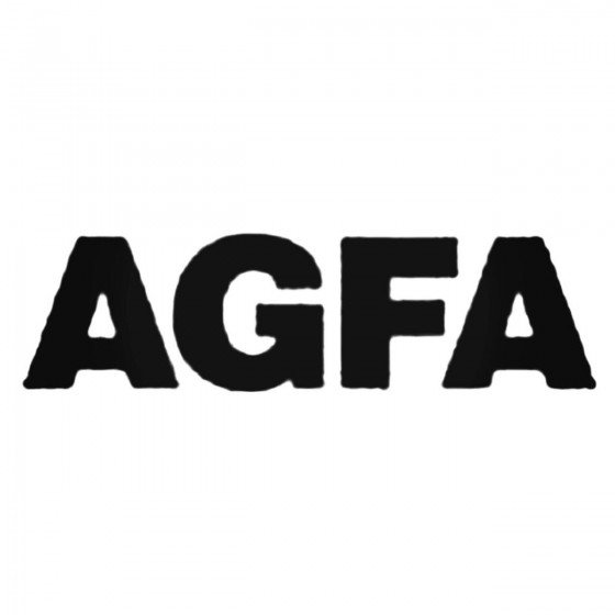 Agfa B S Decal Sticker