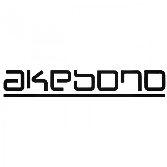 Akebono Brakes Decal Sticker