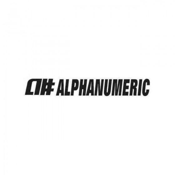 Alphanumeric Graphic Decal...