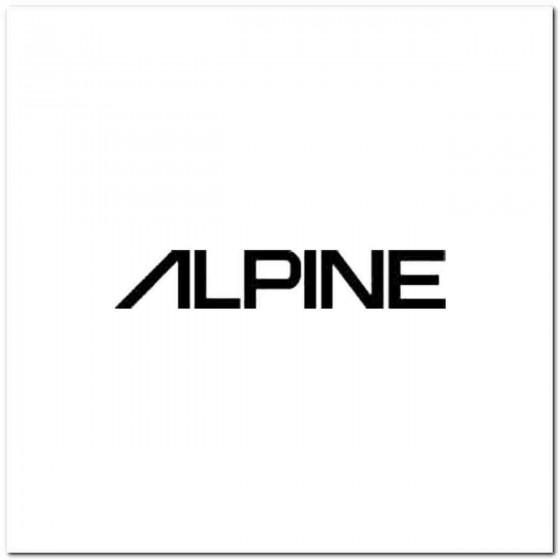 Alpine Vinyl Decal