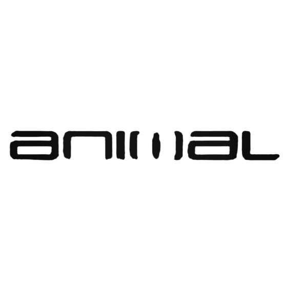 Animal Text Long Decal Sticker