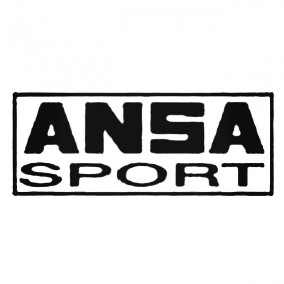 Ansa Sport S Decal Sticker