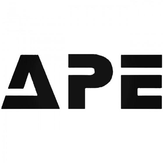 Ape Decal Sticker