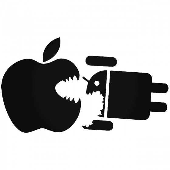 Apple Eats Droid Logo Sticker