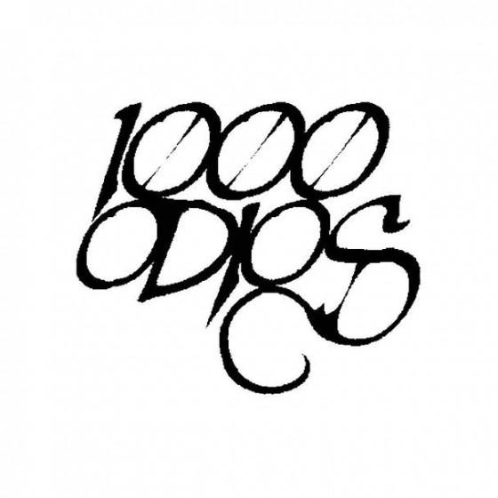 1000 Odios Band Logo Vinyl...