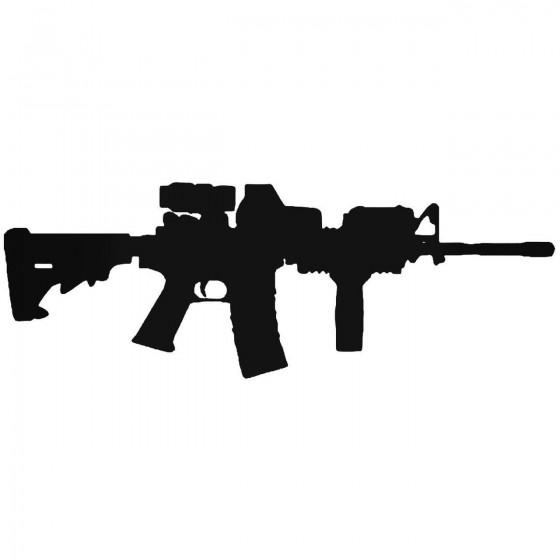 Ar 15 M16 Machind Gun Sticker