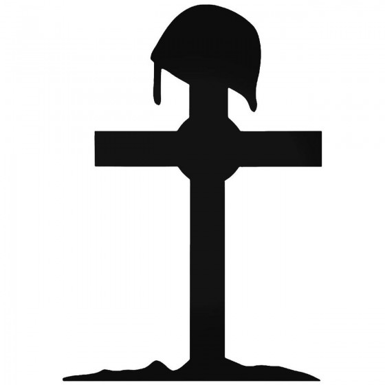 Army Cross Symbolic Decal