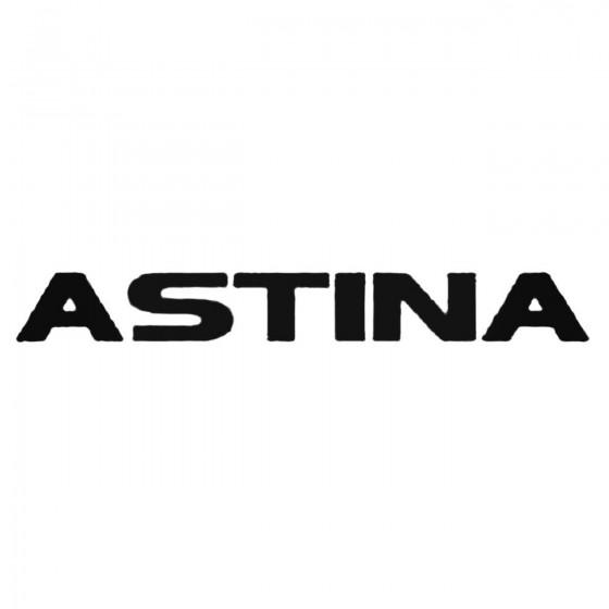 Astina Decal Sticker