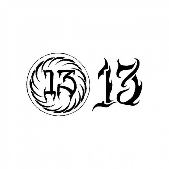 13 Band Logo Vinyl Decal