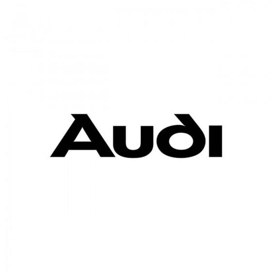 Audi Ecriture Vinyl Decal...