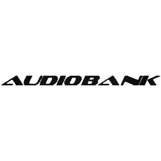 Audiobank Decal Sticker