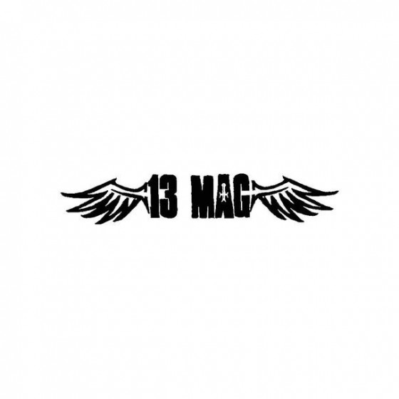 13 Mag Band Logo Vinyl Decal