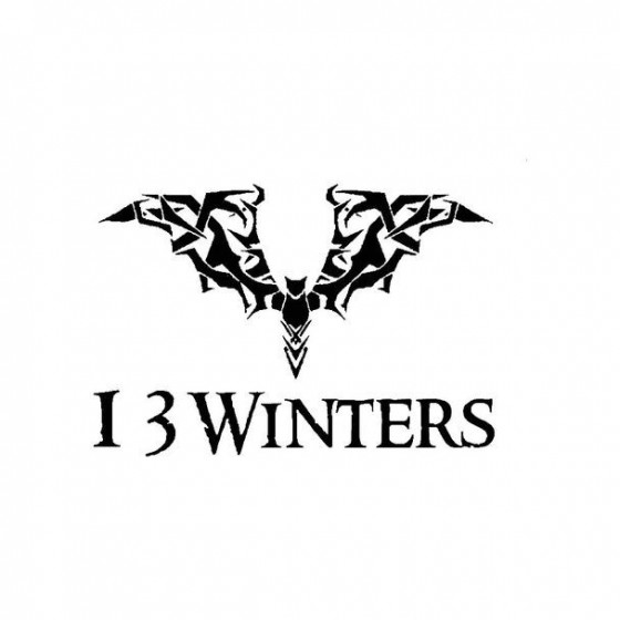 13 Winters Band Logo Vinyl...
