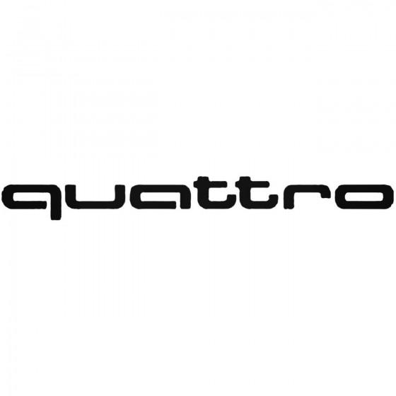 Audi Quattro Vinyl Decal
