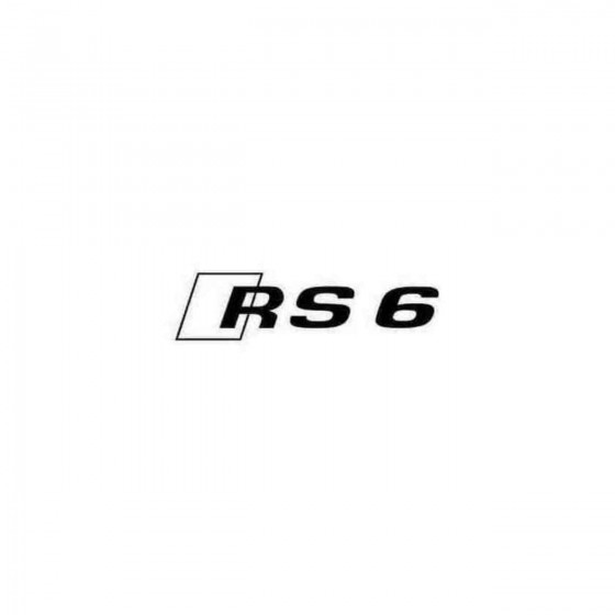 Audi Rs6 Decal Sticker