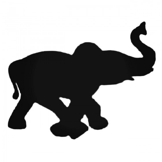 Baby Elephant Walking Decal...