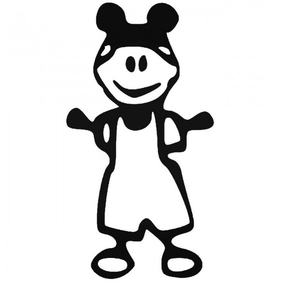 Baby Stick Figure 1 Sticker