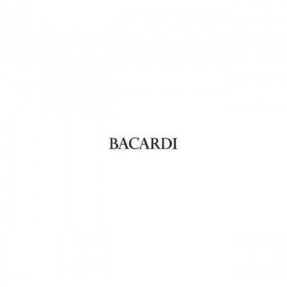 Bacardi S Decal Sticker
