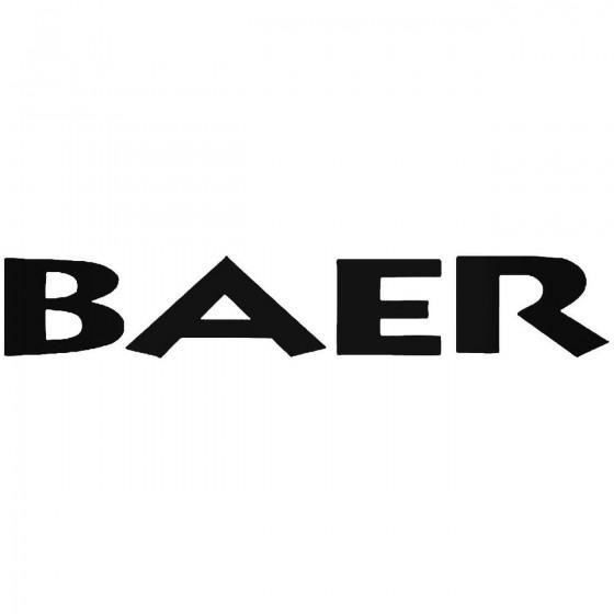 Baer Brake Systems 1 Sticker