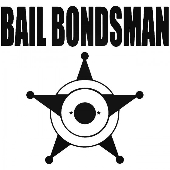 Bail Bondsman Jail Sticker
