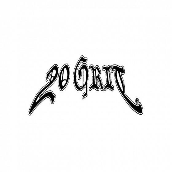 20 Grit Band Logo Vinyl Decal