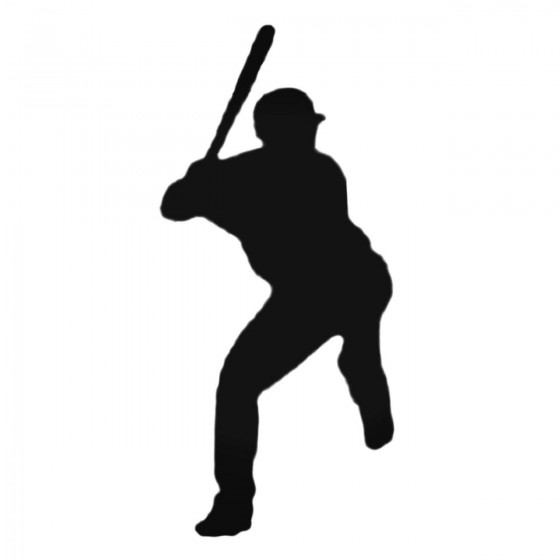Baseball Batter Decal Sticker