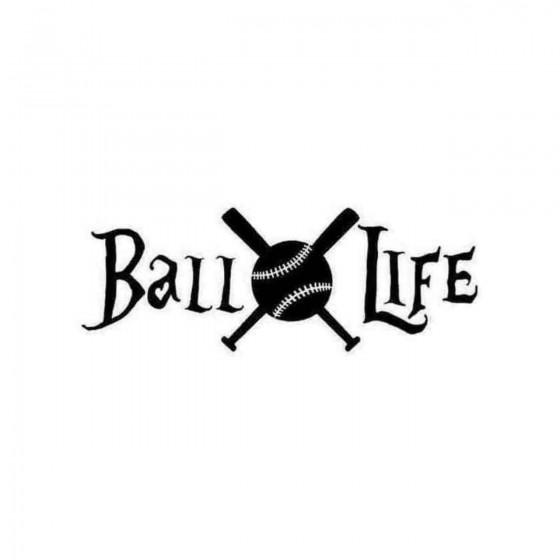 Baseball Life Decal Sticker