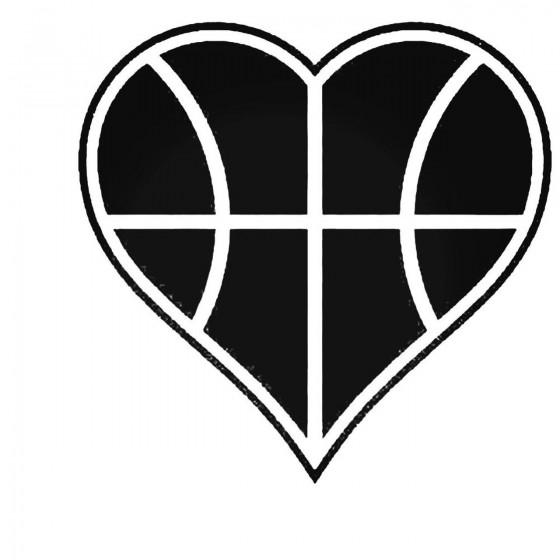 Basketball Love Decal Sticker