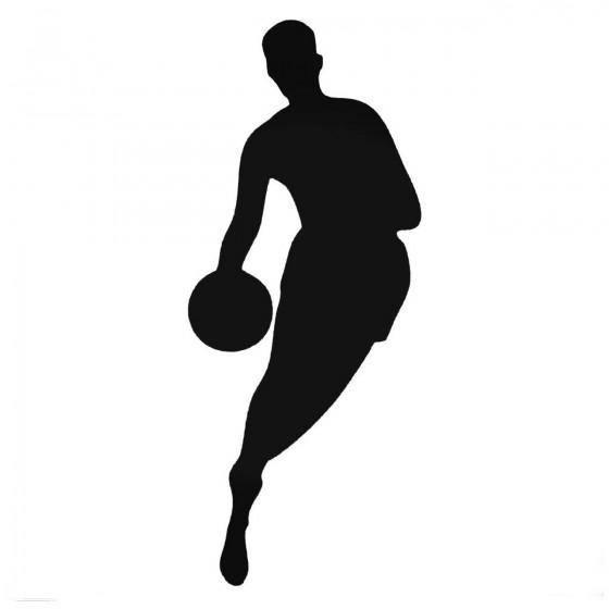 Basketball Player With Ball...