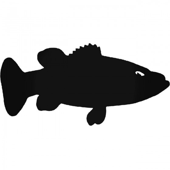 Bass Fish Sticker