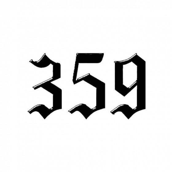 359 Band Logo Vinyl Decal