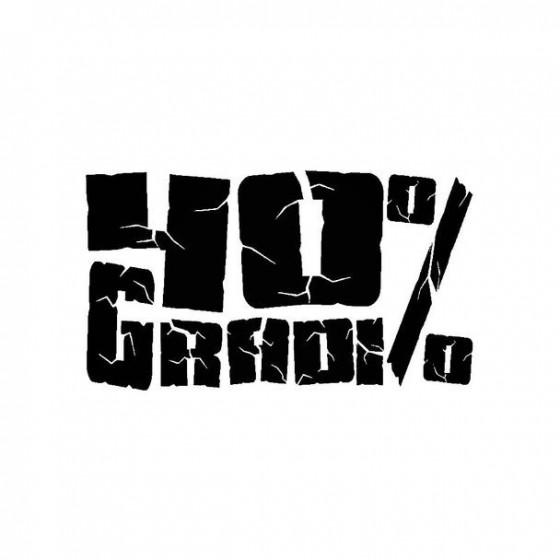 40gradi Band Logo Vinyl Decal