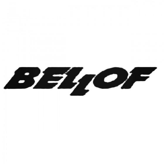 Bellof S Decal Sticker