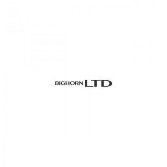 Bighorn Ltd Decal Sticker