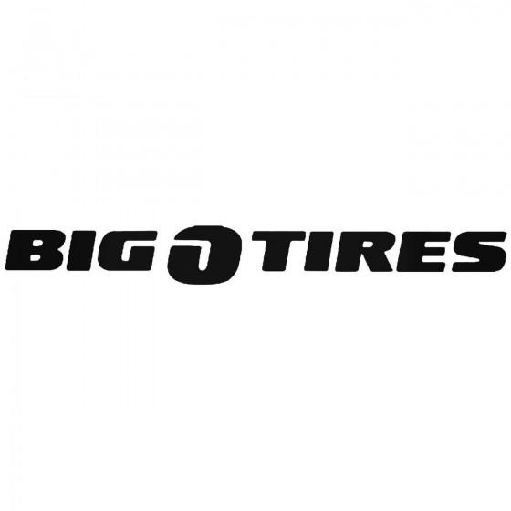 Big O Tires Sticker