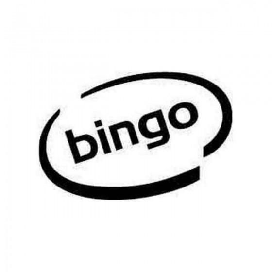 Bingo Oval Decal Sticker