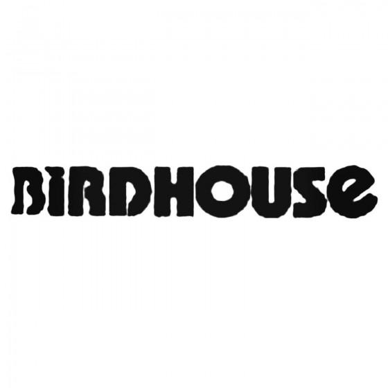 Birdhouse Text Decal Sticker