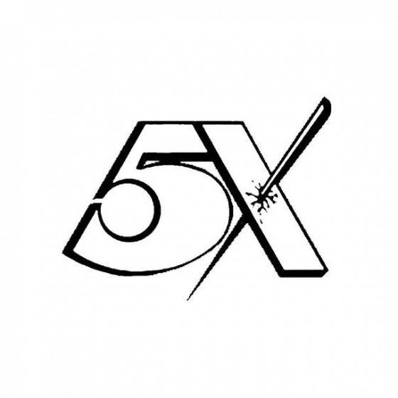 5x Band Logo Vinyl Decal