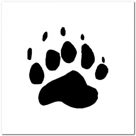 Black Bear Paw Print Tracks...